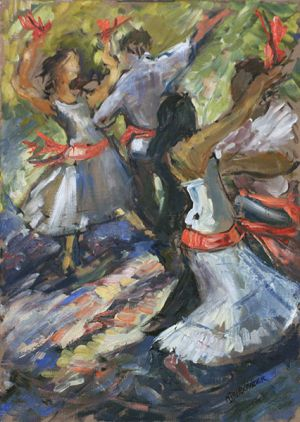 Couples Dancing The Tarantella